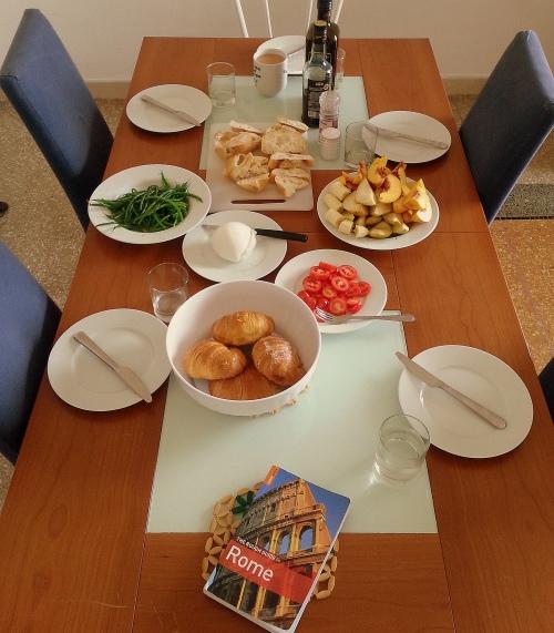 rome, italy, market, breakfast
