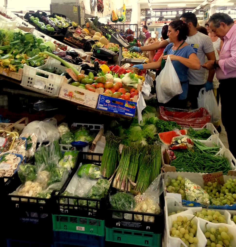 rome, italy, market, vegetables, breakfast