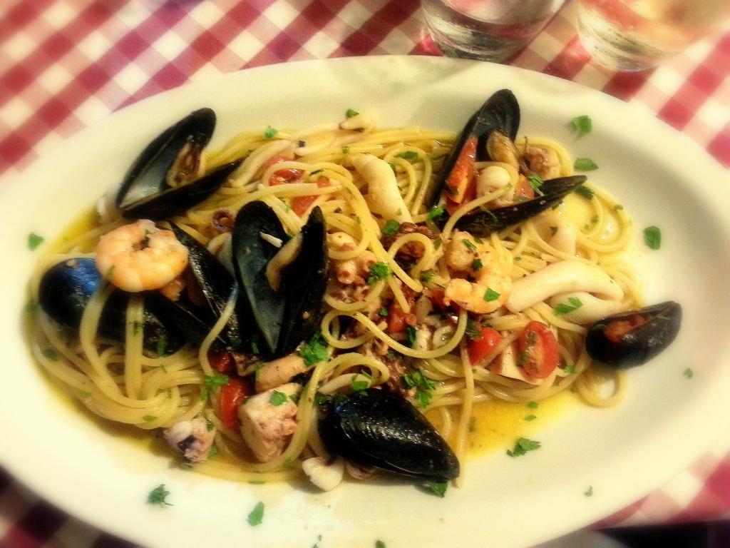 frutti di mare, rome, italy, trastavere