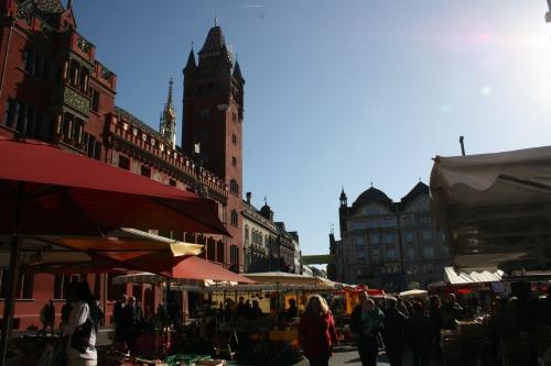 Rathaus and Marktplatz, Basel