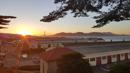 sunset, san francisco, national maritime historical park, california
